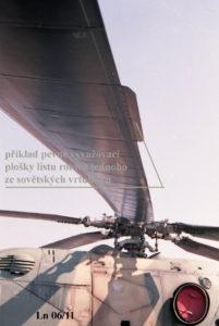 Vyvažovací ploška listu rotoru