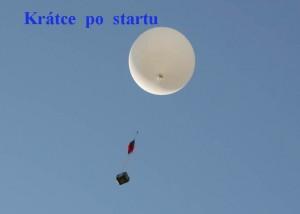 Balon po startu