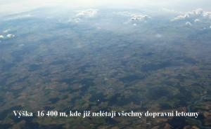 Výška  16 400 m