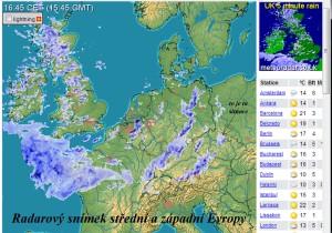 radar. snímek