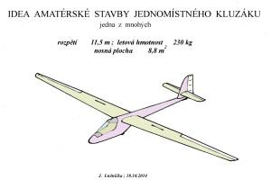 Idea stavby amatérského kluzáku  11,5m