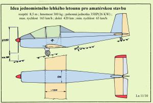 105 Jednomístný lehký motor. letoun