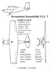 505 Dvoumístný hornokřídlý ULL  I