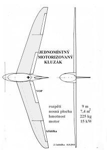 Jednomístný motorizovaný kluzák