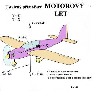 S2  ustálený motorový let