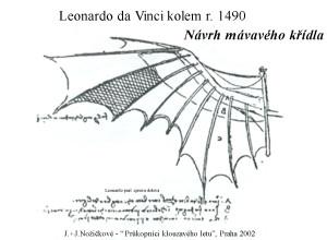 Leonardovo mávavé křídlo r. 1490