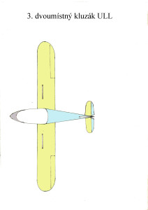 1204 dvoumístný kluzák ULL