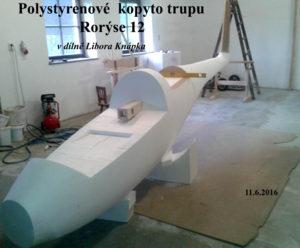 1035 Polystyrenové kopyto trupu Rorýse 12