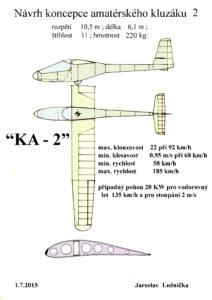 21 Návrh kluzáku KA-2