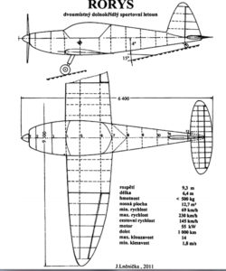 rorys-sportovni-dvoumistny-letoun